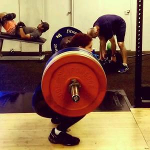 275 squat - October 2015