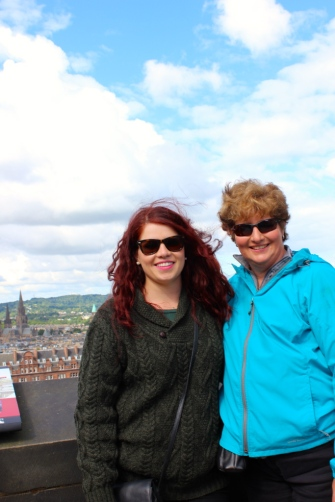 Mom and I on top of Edinburgh Castle.
