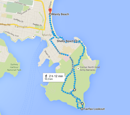 Little map of our adventures today.