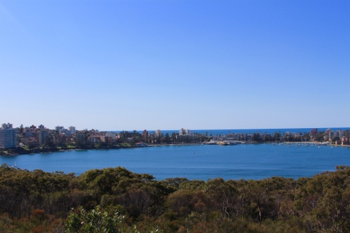 View of beautiful Manly from a lookout!