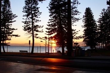 Sunrise at my favourite cafe in Dee Why- Girdlers.