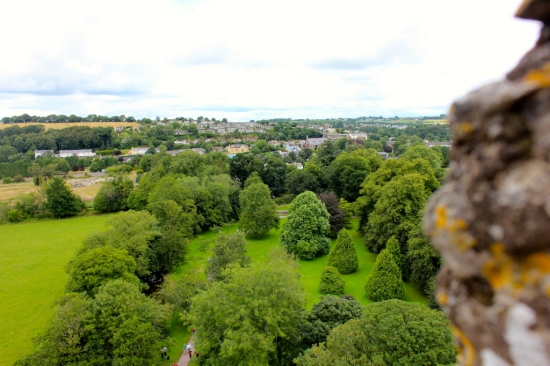 The view from the top of Blarney Castle