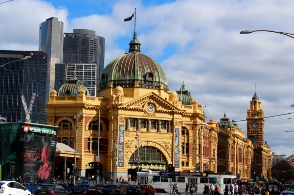 Flinders Station- seriously loved this building.